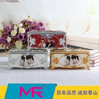 Wholesale Wholesale 3d Photo Frames - Tissue box with photo frame Alhambresque 3D diamante embroidered eco -piano paint printed friendly material with embroided designs