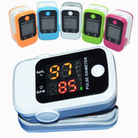 Wholesale Medical finger clip pulse oximeter finger pulse oximetry oxygen meter monitors heart rate monitor heartbeat