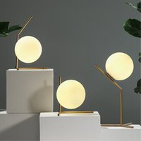 Wholesale Modern Living Bedding - New Modern Brief LED Glass globe floor light led table lamps bedside lamp living room light fixture LED night lights modern floor lamp