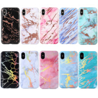 Wholesale chrome housing - Shining Housing Cover Laser TPU Plated IMD Shell Phone Protective Chrome Marble Texture Case for iPhone X 10 6 6S 7 8 Plus