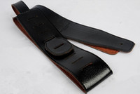 Wholesale bass parts - Black guitar strap FOR Acoustic electric guitar electric bass strap guitar parts musical instruments accessories