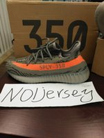 Wholesale Man Steel Cycling - Black White BOOST 350 V2 Steel Grey Boosts 350 Beluga-Solar Red Sneaker Free Bag 2016 Boosts SPLY 350 Black Pack With BOX Free Socks