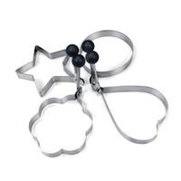 formwerkzeugsätze groihandel-Spiegelei-Former-Ring-Pfannkuchen-Form-Edelstahl-Form, die Küche-Werkzeuge 4PCS / Set freies Verschiffen kocht