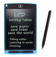Wholesale learning draw for kids online - 8 LCD Writing Tablets for Children Eco Paperless drawing boards for Kids Kindergarten Back to School Essential Learning Writing Boards