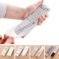 Wholesale Tv Remote Protective Cover - Waterproof Silicone Storage Bags TV Remote Control Dust Cover Protective Holder Organizer Home transparent Accessory