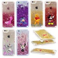 Wholesale Fairy Iphone - Hot Alice Cheshire Cat Fairy Tale Shining Star Liquid Quicksand Case Cover For iPhone 5  6s 6s plus 7 7 plus Samsung S6 S7 S7 edge