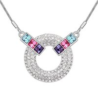 Wholesale swarovski necklace designs - Hot Sale Fashion Accessories For Women Branded Design Made with Swarovski Elements Austrian Crystal Pendant Necklace Fashion Jewelry 7401