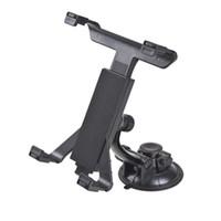 ipad koltuk sırtlığı toptan satış-Evrensel GPS Araç Cam Emme Arka Koltuk Kafalık Masa dağı Tablet Tutucu Için iPad 2/3/4/5 Tablet Standı Siyah Tembel Kemik