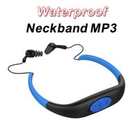 Xmas Gift Waterproof MP3 Music Player IPX8 4GB Natation Course Surf Sports Sous-Marins Neckband Mp3 avec radio FM Earphone