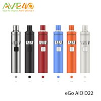 Wholesale Smallest Atomizer - Joyetech eGo Aio D22 Starter Kit All in one 1500mAh Big Power in small Body with 2ml Atomizer Tank 100% Original