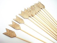 Wholesale Wholesale Arrows Cheap - cheap Boutique Double Sided Gold Glitter Arrow on 8inch Stir Stick OR Skewer - Birthday, Baby Showers, Weddings, Drink, Party Stir Stick
