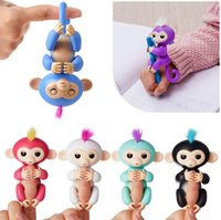 Wholesale Electronics For Kids - Pre-sale Colorful Finger Monkey Fingerlings Monkey 6 Colors Electronic Smart Touch Fingers Monkey For Child Adult Toys 50pcs OOA2834
