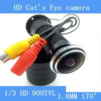 Wholesale Wide Angle Door - HD 5MP 170 Wide Angle Wired Mini night vision Door Eye Hole Video Camera Color CCTV 1 3 'Sony surveillance Camera