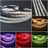 en iyi fiyatlarla yılbaşı lambaları toptan satış-DC12V 5 M Çift Sıralı RGBW 5050 RGB + 2835 sıcak / soğuk Beyaz LED flex RGBW 600 LED Şerit Işıklar