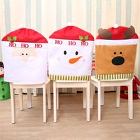 Wholesale Wholesale Party Supplies Tables Chairs - Christmas Chair Covers 3 colors Christmas Hat for Dinner Decor Home Decorations Ornaments Supplies Dinner Table Party Decor IB654
