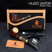 großes dampfrohr großhandel-618 epipe Special Design große Dampf E-Pipe Kit E-Zigarette China mit hochwertigen E-Zigarren in Geschenkbox Luxus Hugo Dampfpfeife
