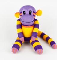 Wholesale Wholesale Sock Monkey - Handmade sock baby toys monkey stuffed animal doll kid birthday new year gift christmas kids toys