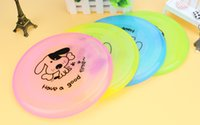 Wholesale Soft Flying Disc Dogs - Newest Pet Dog Flying Saucer Pet Frisbee Dog Frisbee Soft Candy Color Flying Disc Pet Toy