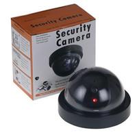 поддельные купольные камеры оптовых-Беспроводная домашняя камера безопасности Fake Имитация видеонаблюдения в помещении / на открытом воздухе Видеонаблюдение Dummy Ir Led Fake Dome камера с розничной упаковкой
