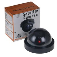 Wholesale Video Surveillance Outdoor - Wireless Home Security Fake Camera Simulated video Surveillance indoor outdoor Surveillance Dummy Ir Led Fake Dome camera with retail packin