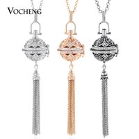 Wholesale chime necklaces for sale - Group buy Chime Harmony Essential Oil Diffuser Locket Colors Crystal Pendant Tassel Necklace With Stainless Steel Chain Va Christmas Gift