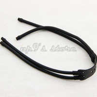 Wholesale Slingshot Replacement Bands - 10pcs lot 4 Strips Super Durable Black Rubber Band ELASTIC Bungee For Slingshot Outdoor Hunting Catapult Replacement 2050