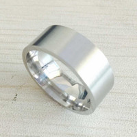Wholesale cool rings for women - Cool simple men 8mm thick 316L stainless steel wedding engagement silver metal rings for men women high quality USA size 6-14