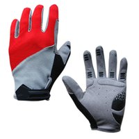 Wholesale Golf Gloves Red - Wholesale Cycling Gloves Bike Bicycle Full Finger Gloves Red Blue Black Autumn Winter Racing Sport Breathable Shockproof Gloves Size M-L-XL