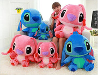 Wholesale Pink Stuffed Animals Cartoons - 40cm large stitch plush toys giant plush toys cartoon movie action figures stuffed animals kids toys festival gift