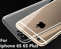 Wholesale iphone water protect case resale online - For iPhone S inch Plus inch TPU Soft Case Protect Cover Crystal Clear Transparent Silicon Ultra Thin Slim cell phone cases
