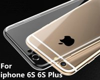 iphone 4.7 de silicona al por mayor-Para iPhone 6S 4.7 pulgadas más 5.5 pulgadas TPU Funda suave Proteger Crystal Clear transparente Silicon Ultra Thin Slim casos del teléfono celular