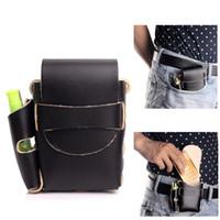 Wholesale Handmade Genuine Case - Handmade Long Genuine Leather Cigarette Case Box With lighter Holder (For Full Pack Box of King Size& 100's)