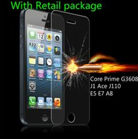 Wholesale tempered glass for samsung galaxy e7 for sale - Group buy 0 mm Screen Protector Film Front Tempered Glass For Samsung Galaxy Core Prime G3608 J1 Ace J110 E5 E7 A8