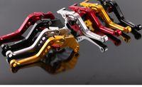 palanca de embrague ajustable motocicleta al por mayor-CNC Palanca de embrague de freno de aluminio Motocicleta Racing Palanca ajustable Azul Plata Rojo Amarillo para MSX125 M3