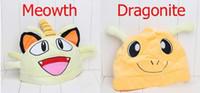 Wholesale Mew Poke - 2016 Anime Cartoon Poke Pikachu Meowth Dragonite Gengar Mew Plush Hat Cosplay Hat Cap Warm Winter Hat