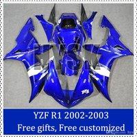 Wholesale Custom Painted R1 Motorcycle Kits - Fairing kit for Yamaha 2002 20003 YZF R1 Custom Painting Motorcycle Fairing 2002-2003 YZF R1 Motorcycle Faring Set with Original decal
