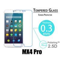 Wholesale Meizu Mx2 Screen - Wholesale-For Meizu MX2 3 3 4 4Pro  Meilan2.5D 0.3mm Anti-Explosion Tempered Glass Screen Protector for Meizu MX5 protective film