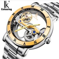 Wholesale ik watches men for sale - Group buy IK colouring Man Watch ATM Waterproof Luxury Transparent Case Stainless Steel Band Male Mechanical Wristwatch Relogio Masculino