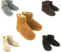 Wholesale Genuine Australia Boots - Free Shipping Hot Sale High Quality Classic WGG Brand Women popular Australia Genuine Leather Boots Low Women's Snow Boots US5--13