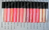 Wholesale White Lipgloss - 2210 Lips Makeup Lip Glass Lipgloss Brillant A Levres 1.92ml With English Name 15Pcs