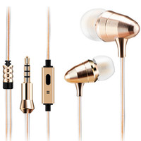 Wholesale Speaker For Iphone4 - Super Stereo Hifi Headphone Music Earphones Earbuds With For the iPhone4 5 6 Samsung MP3 MP4 Speakers-Color:Gold