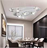Wholesale morden living - 2016 New design LED morden pendant light for dining room bedroom aluminum and acrylic chandeliar industrial lighting AC85-265V