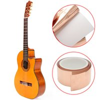Wholesale Foil Tapes - 3m*50mm Guitar Copper Foil Tape EMI Shielding Barrier Conductive Copper Foil Tape Electric Guitar Accessory