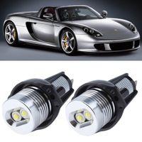 Wholesale angel eyes bulbs online - E90 E91 W Series i i xi xi i Excellent Quality xenon white LED Angel Eyes Halo Light bulb No Error