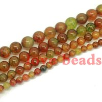 "Wholesale loose garnet beads - Wholesale Fashion Natural Crackle Agate High Quality Round Loose beads 6.8.10.12 14mm Strand 15"" Free Shipping -F00261 jewelry making"