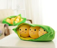 Wholesale Stuffed Peas Pod - Free shipping Korean doll 70CM pea pods stuffed toys (Get confused doll) pillow doll birthday gift