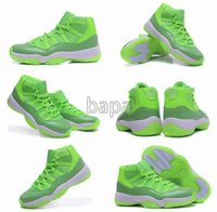 Wholesale China Shoes Women Running - 2016 New Air China Shoes RETRO XI 11 Shiny Green Basketball Shoes 1:1 Quality For Women shoes Running Sneakers Trainers Size 36-40