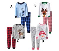 Wholesale Cheap Brand Tracksuits - 2016 Christmas baby cotton suits cheap kids cartoon suit 2-7 years boys and girls spring & autumn tracksuit free shipping 5set A42