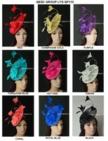 Nouvelle arrivee. GRAND sinamay Feather Fascinator Hat pour Melbourne cup, Wedding.Kentucky derby, Races.champagne gole, ivoire, noir, corail.