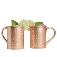Wholesale fedex china resale online - FEDEX SF_express Oz Copper Moscow Mule Mugs Solid Copper Hammered Mug Copper Cups for Moscow Mules